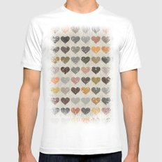 Hearts Mens Fitted Tee White MEDIUM