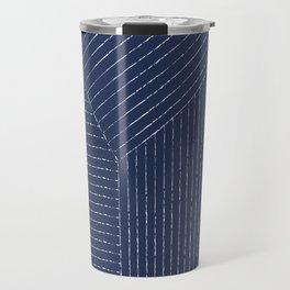 Lines / Navy Travel Mug