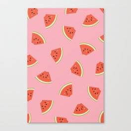 Slice of Life Watermelon Canvas Print