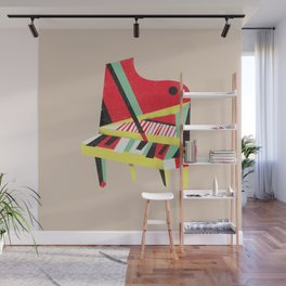 Cubist Piano Wall Mural