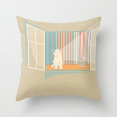 Catching some morning sun Throw Pillow
