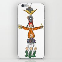 fandom iPhone & iPod Skins featuring The Fandom Totem Pole by Tricksterbelle Productions