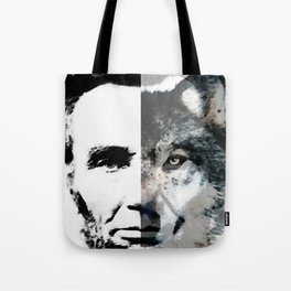 Political Debate - Abraham Lincoln Art by Sharon Cummings Tote Bag