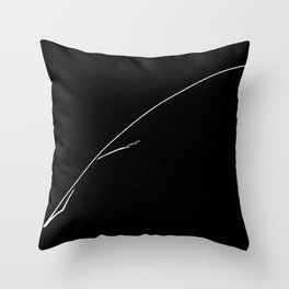 White Writer's Quill Throw Pillow