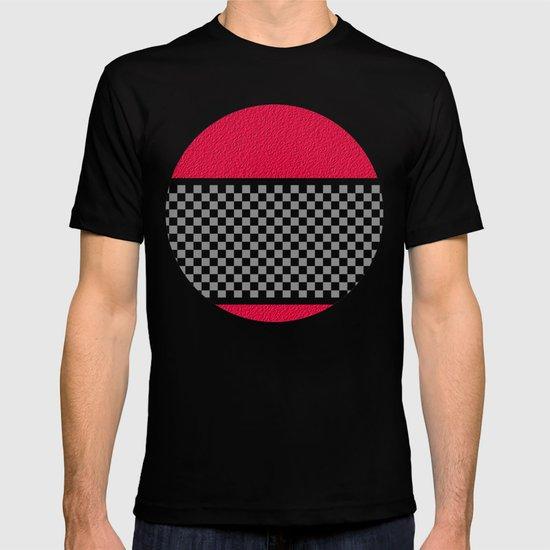 Checkered/Textured Red T-shirt