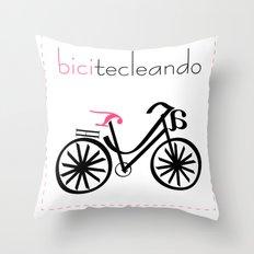 bicitecleando Throw Pillow