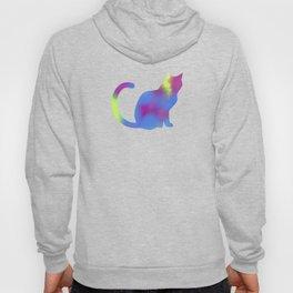 Rainbow Paint Kitty Hoody