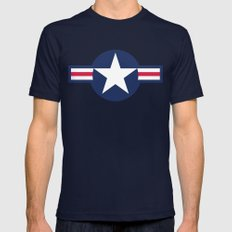 Air force plane symbol - High Quality image Mens Fitted Tee Navy X-LARGE