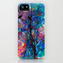 Love Birds Abstract #society6 #decor #lovebirds by Lena Owens @OLena Art iPhone Case
