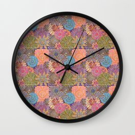 Flower Garden Quilt Wall Clock