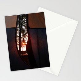 Sunrise at Lake Pemaquid Campground in Damariscotta, Maine (1) Stationery Cards