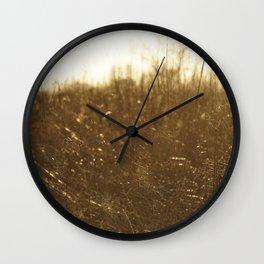 Golden Prairie Wall Clock