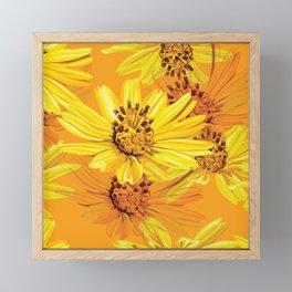 Watercolor Yellow Daisies Framed Mini Art Print