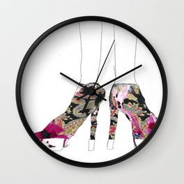 Shoes, shoes, shoes Wall Clock