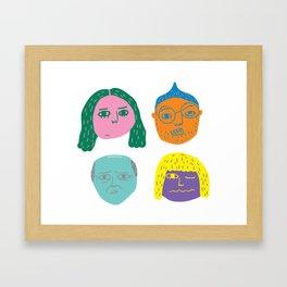 floating heads Framed Art Print