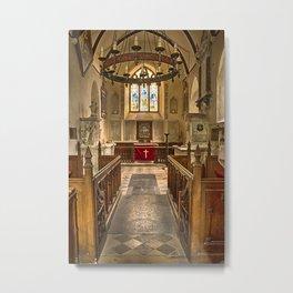 Knowlton Church Chancel Metal Print