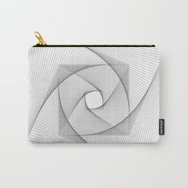 Modern Black and White Swirl Carry-All Pouch