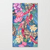 koi Canvas Prints featuring Koi Pond by Vikki Salmela