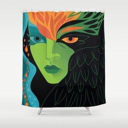 Eagle-eye Warrior Woman Shower Curtain