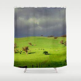 Following the fence Line! Shower Curtain