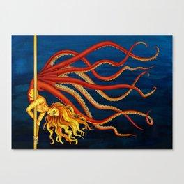 Pole Creatures - Mermaid Canvas Print