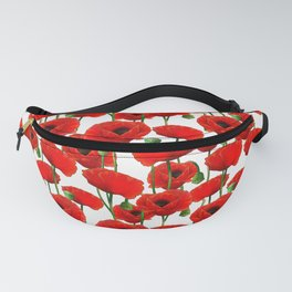 Red Poppy Pattern Fanny Pack