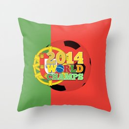 2014 World Champs Ball - Portugal Throw Pillow