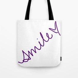 Purple Smile Tote Bag