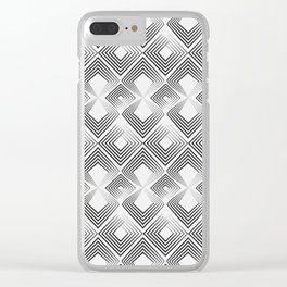 Black and light gray art Deco . No. 59 Clear iPhone Case