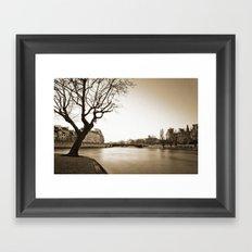 Winter along the Seine Framed Art Print