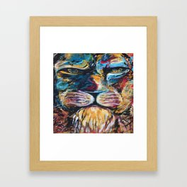 Lion face original Framed Art Print