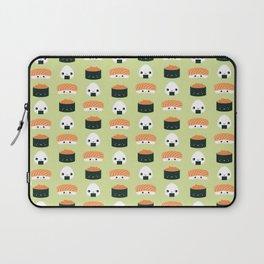Salmon Dreams in wasabi, large Laptop Sleeve