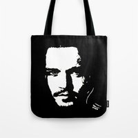 johnny depp Tote Bags featuring Johnny Depp by Kunooz