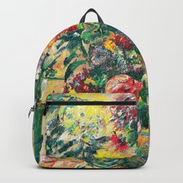 Still Life with Chrysanthemums and Amaryllis - Digital Remastered Edition Backpack