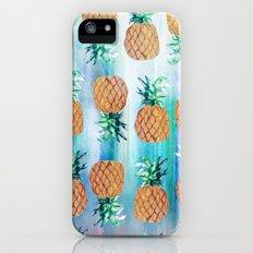 Pineapple Beach Aqua iPhone (5, 5s) Slim Case