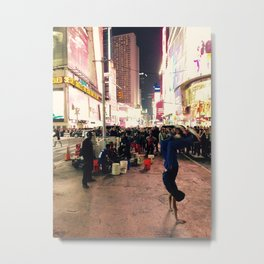New York City Street Performer Handstand Metal Print