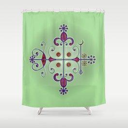 Voodoo Symbol Papa Legba Shower Curtain