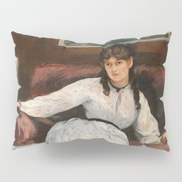 The Rest, portrait of Berthe Morisot by Edouard Manet Pillow Sham