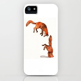 Jumping Red Fox iPhone Case
