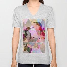 Geometric, pastel, bird print Unisex V-Neck