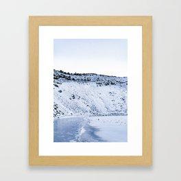Kerid Crater In Winter, Iceland Framed Art Print
