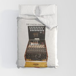 Vintage Secret Code Machine enigma Comforters