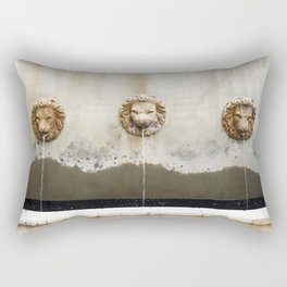 Three Lions Fountain Rectangular Pillow