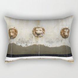 Three Lions Fountain Rectangular Pillow