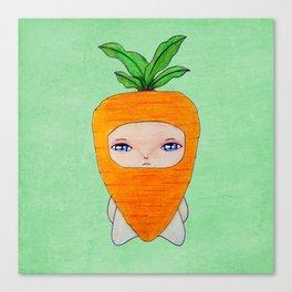 A Boy - Carrot Canvas Print