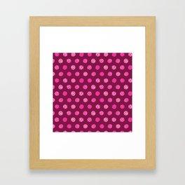 Patterned Dots Framed Art Print