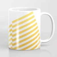 bands Mugs featuring Yellow bands by blacknote