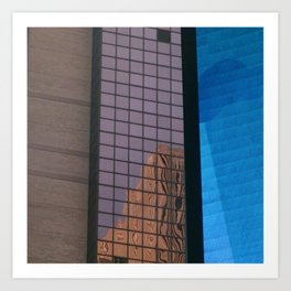 Manhattan Windows - Waterfall Art Print