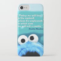 cookie monster iPhone & iPod Cases featuring Cookie Monster Motivational by Tiffany Taimoorazy