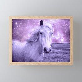 Lavender Horse Celestial Dreams Framed Mini Art Print